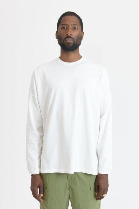 nonnative Clerk Cotton Jersey L/S Tee - White