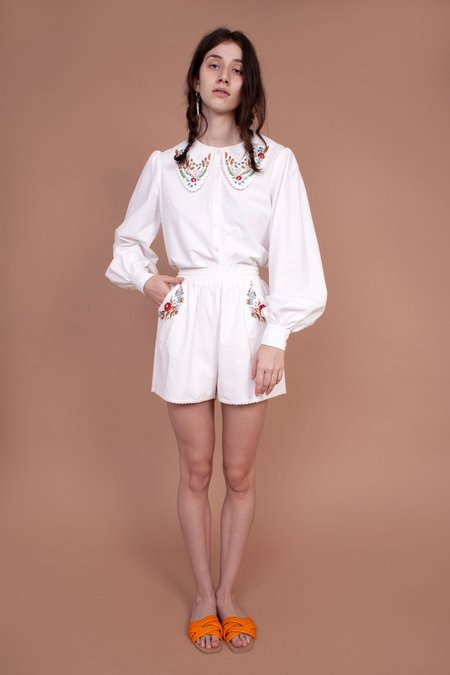 Meadows Caspia Shorts - Multi Embroidery