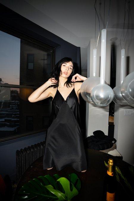 KES Mini Triangle Slip Dress - Black