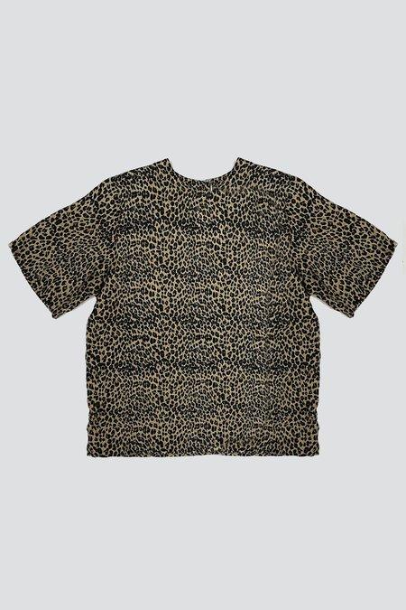 Vintage Silk Loose Tee - Leopard