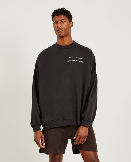 Willy Chavarria Hooligan Crew sweater - BLK CLAY