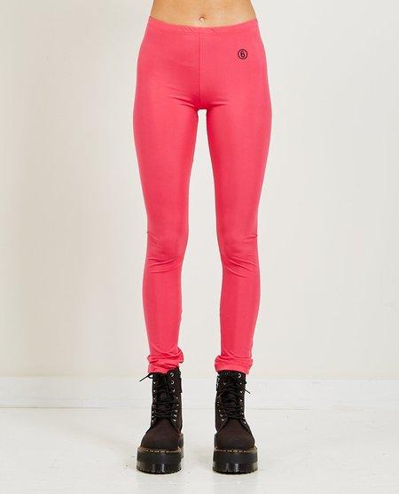 Maison Margiela Logo Print Leggings - pink