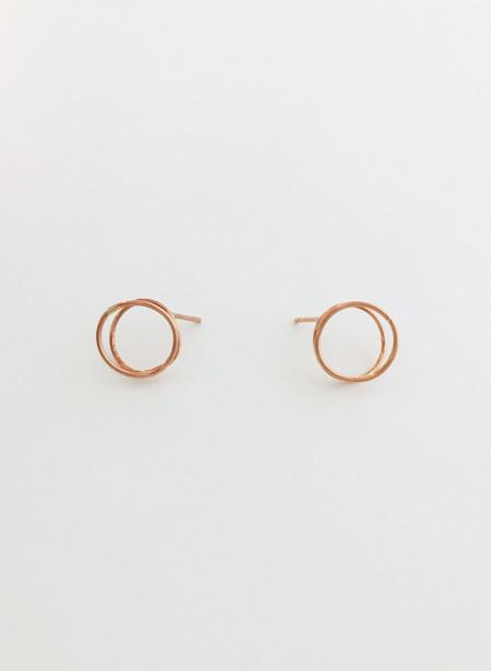 Rachel Gunnard Rose Gold Lobe Earings