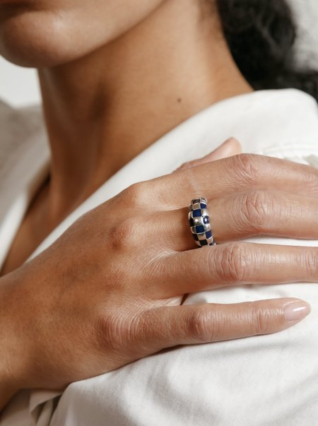 Wolf Circus Libby Ring - Blue/Silver