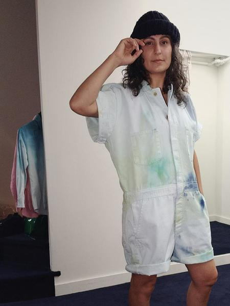 unisex Audrey Louise Reynolds Organic Cotton Short Jumpsuit - Scuzz Bucket