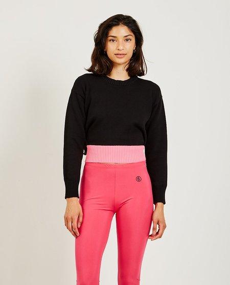 Maison Margiela Two-Tone Sweater - black