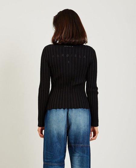 Maison Margiela Zip Sweater - Black