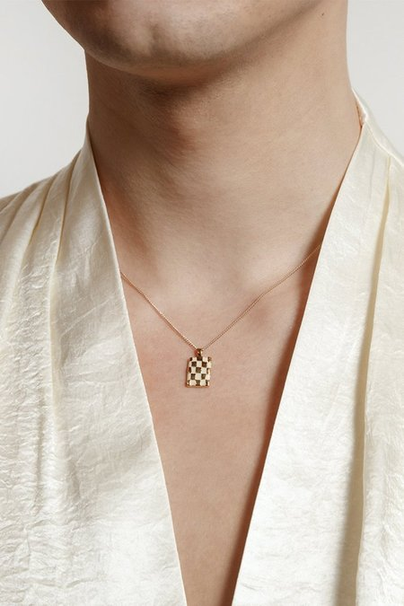 Wolf Circus Penny Necklace - Cream/Gold