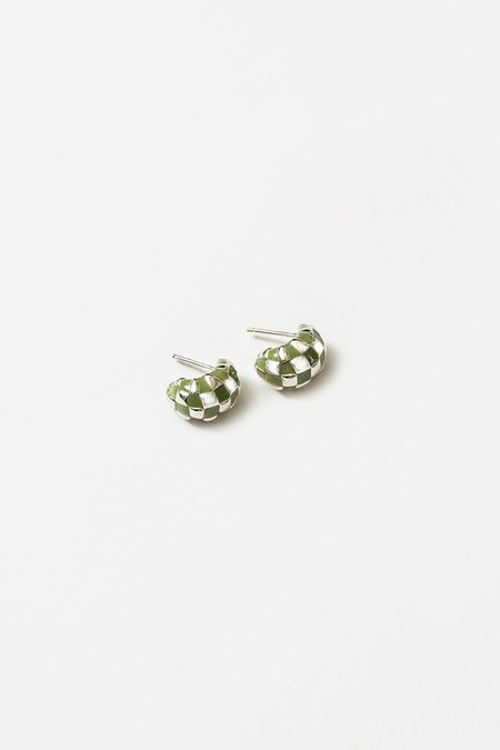 Wolf Circus Small Nellie Earrings - Green/Silver