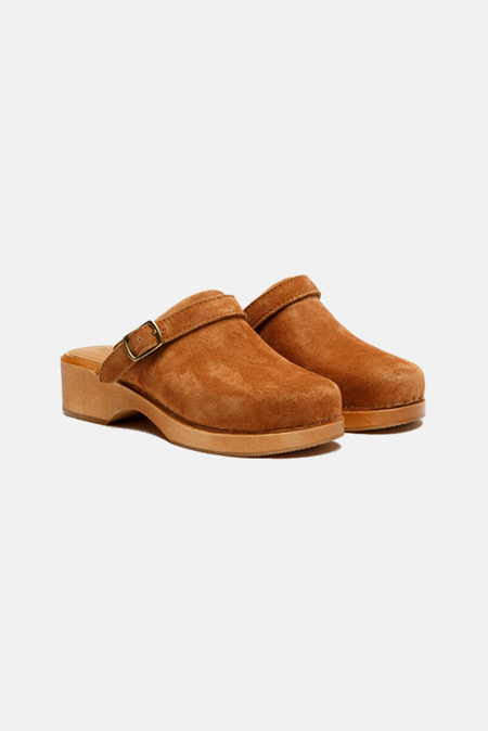 RE/DONE 70s Classic Clog Shoes - Cuoio Suede