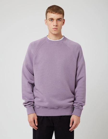Bhode Raglan Crew Sweatshirt - Space Purple