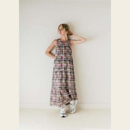 Bronze Age Gigi Tiered Dress - Pink Patch Plaid