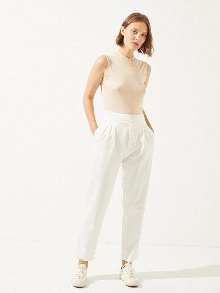 Cus Organic Cotton Trouser - White