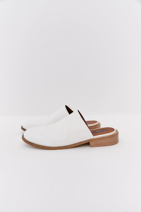pre-loved Marsell Leather Slides - white