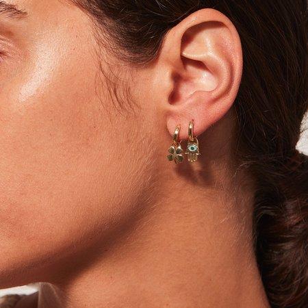 Jenny Bird Fortuna Huggie Set earrings - 14k gold-dipped brass