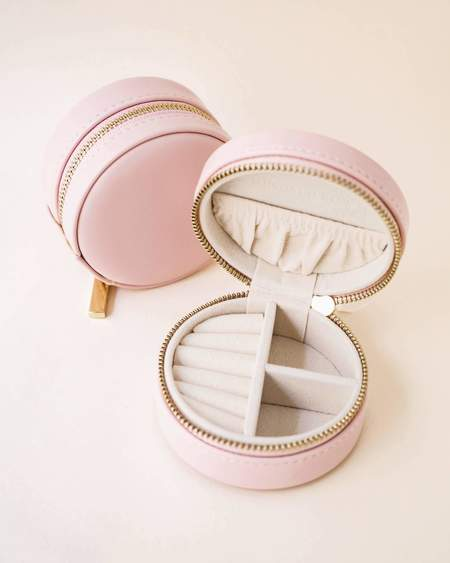 Kindred Row Jewelry Case - Nude Leather