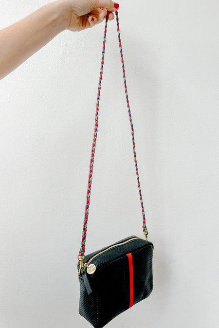 Clare V. Mini Braided Crossbody Strap - Plum