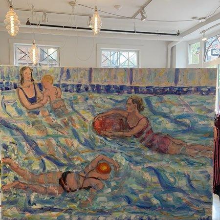 ouimillie Eleanor Score Swimmers in the pool art