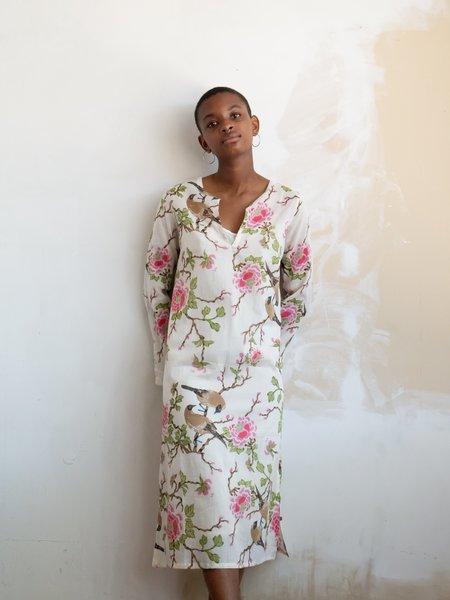 Erica Tanov lovebird nava dress - natural