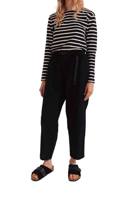 Gramicci Linen Wide Tapered Pants - Black