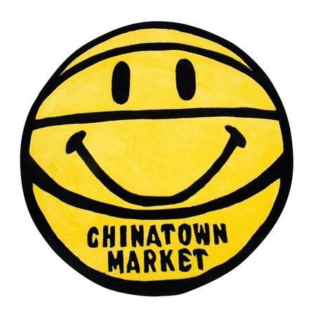 Chinatown Market Smiley Basketball Rug - Yellow