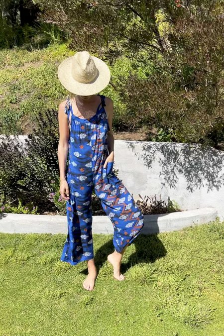 Tysa Ciao Overalls Jumpsuit - Royal Ikat