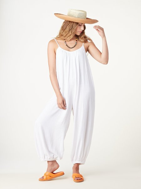Rachel Pally Linen Alexandra Jumpsuit - White