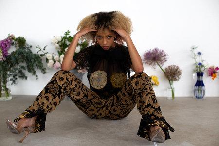 Sydney Pimbley Brocade Trousers - black