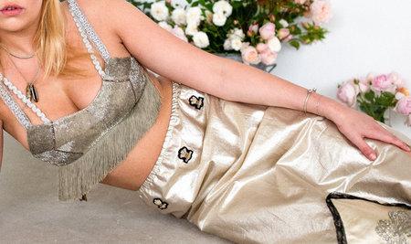 Sydney Pimbley Three Feather Skirt - YELLOW