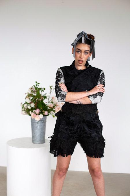 Sydney Pimbley Mixed Media Shorts - BLACK