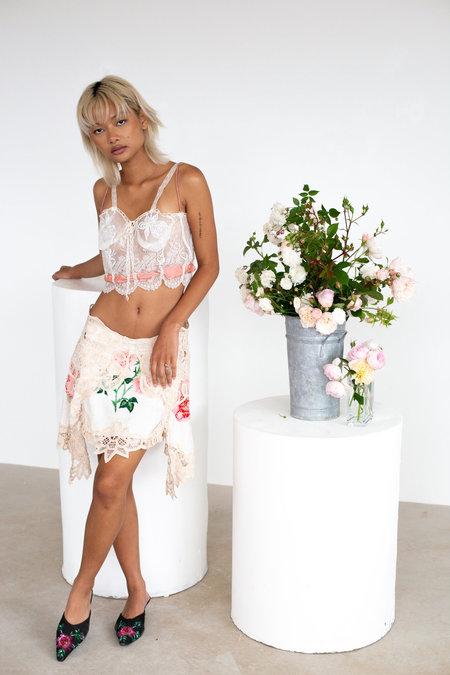 Sydney Pimbley Kiss From A Rose Skirt - white/multi