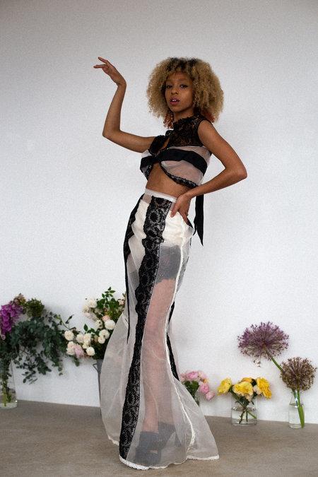 Sydney Pimbley Lady Godiva Skirt - white/black