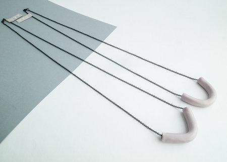 YYY V + U necklace