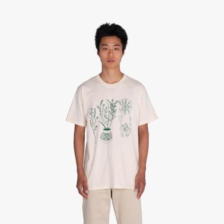 Good Morning Tapes x LSD World Peace T-Shirt - white