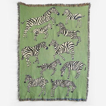 Olivia Wendel Striped Zebra Blanket - Prints