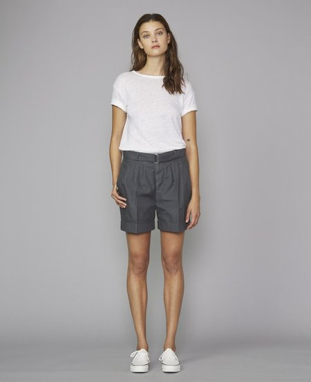 Officine Generale Georgia Shorts - Asphalt