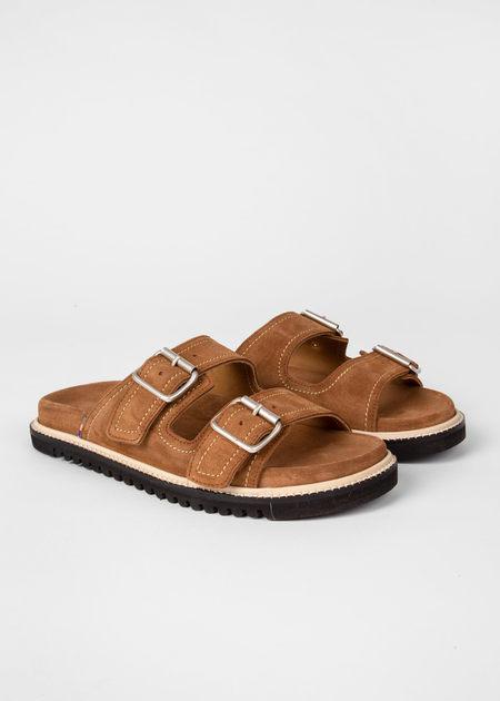 Paul Smith Women's Suede Phoenix Sandals - Tan