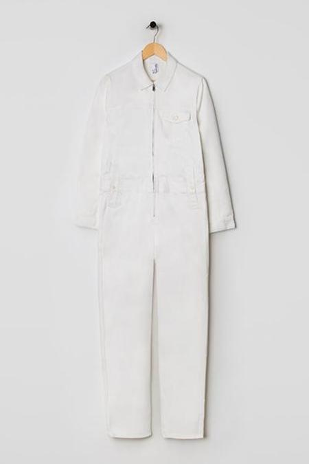 M.C.Overalls Denim Overall - white