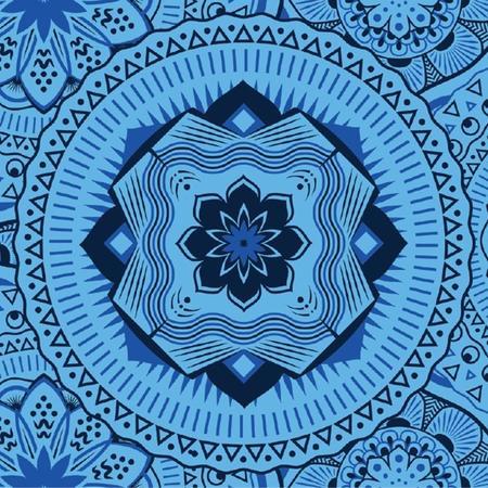 ENO DoubleNest Printed Hammock - Mantra/blue