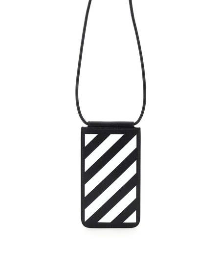 Off-White Leather Case - Black