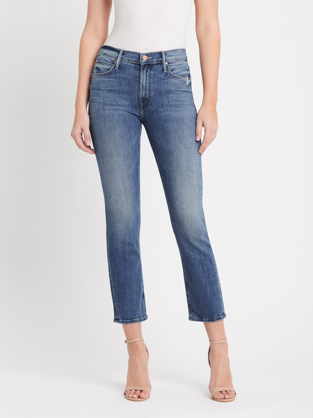 Mother Denim The Mid Rise Dazzler Ankle - Cut And Paste