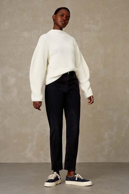 Kings Of Indigo Caroline Eco Recycled Jeans - Black Worn