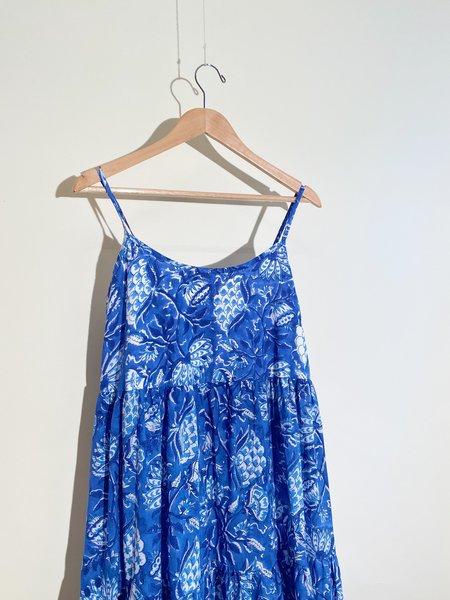 Stella Ray Mae Dress  - Blue/White