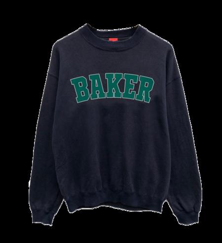 Baker Drop Out Crewneck - Navy