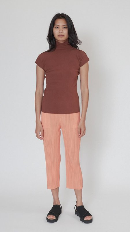 Issey Miyake Cotton Baguette A-POC Top - Brown