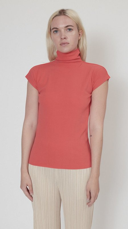 Issey Miyake Cotton Baguette A-POC Top - Red