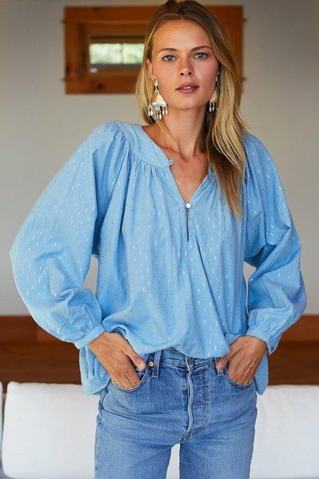 Emerson Fry Olympia Shirt - Powder Blue Dot Lurex