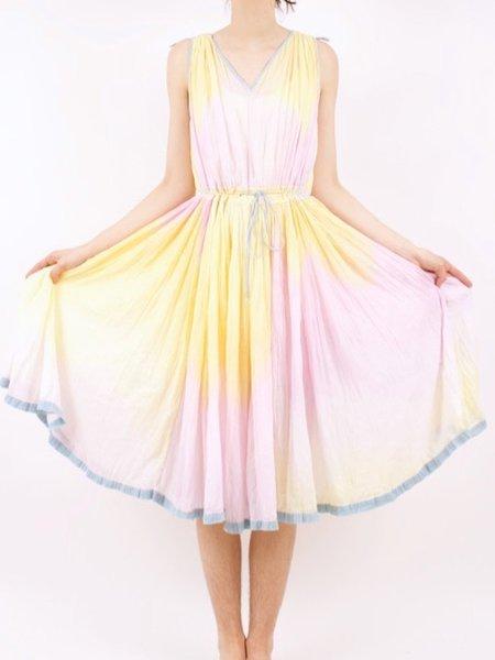 vintage tie dye dress - multi