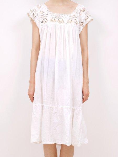 Vintage cotton muumuu dress - white