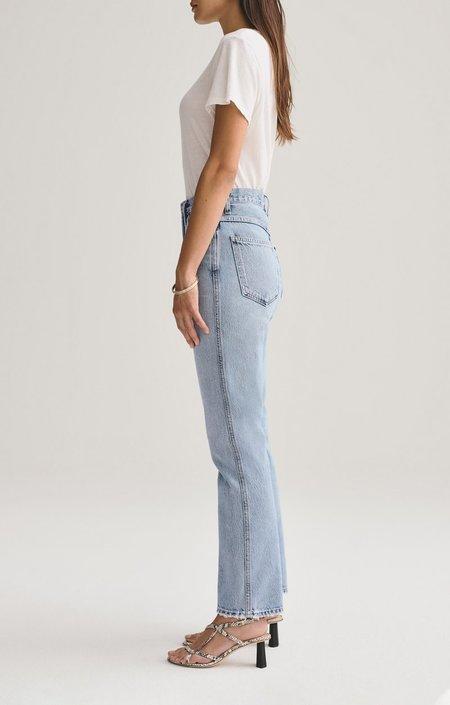 Agolde Pinch Waist High Rise Kick Jeans - Riptide
